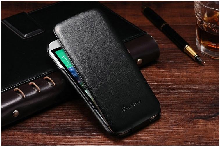Husa piele fina, tip flip cover, HTC One M9 - CaseMe, Negru