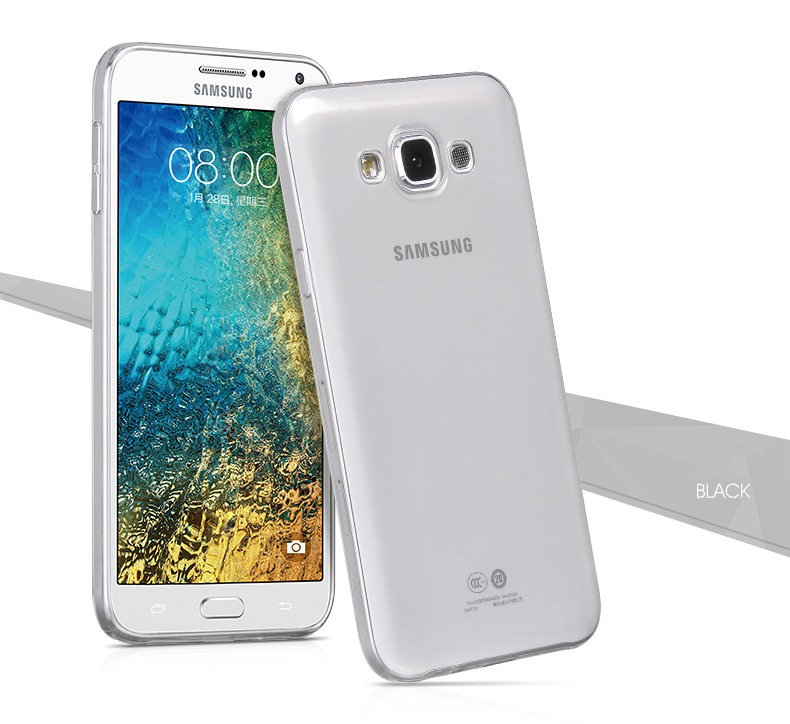 Husa ultra slim din silicon + TPU, tip back cover, Samsung Galaxy E5 - HOCO, Negru