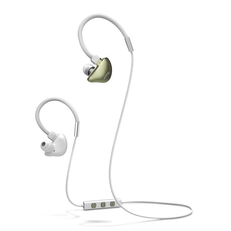 Casti cu bluetooth, wireless, cu microfon, dedicate pentru sport - Xoomz by iCarer, Gold