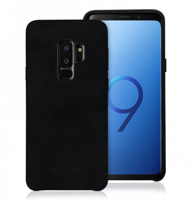 Husa piele microfibra moale, tip back cover, Samsung Galaxy S9 Plus - Jison Case, Negru