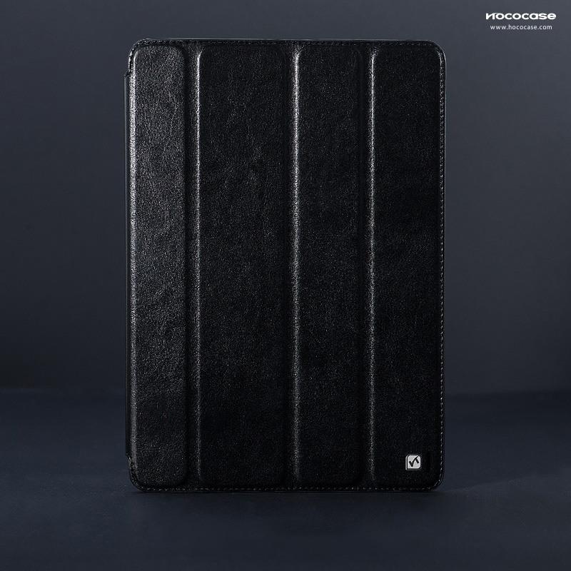 Husa piele fina slim, functie stand, iPad 2 / 3 / 4 - HOCO Crystal, Negru