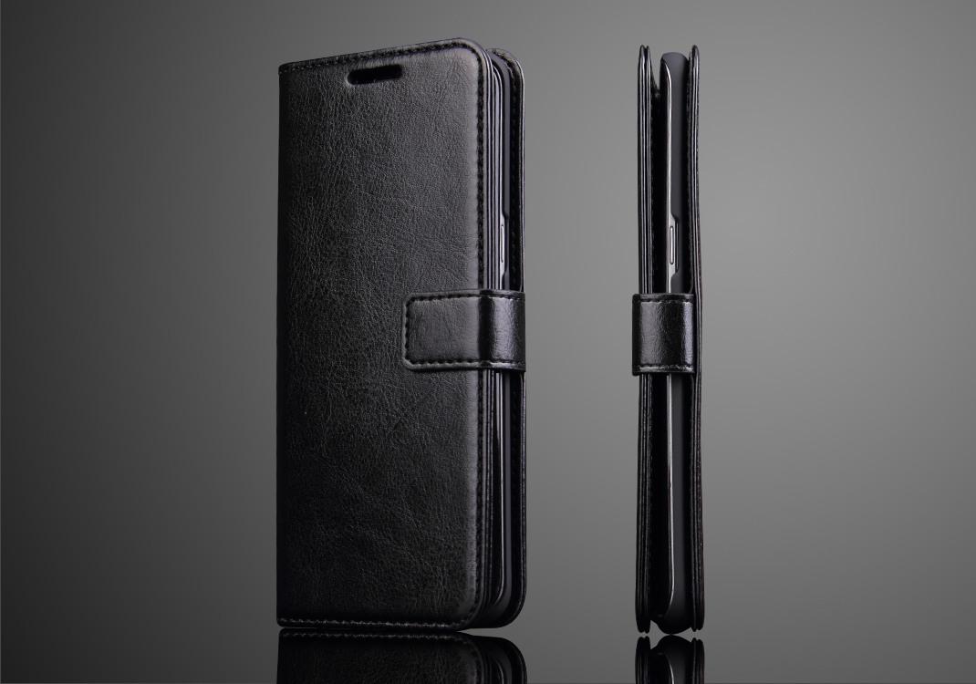 Husa cu protectie superioara din piele fina, tip portofel, Samsung Galaxy S8 Plus - CaseMe, Negru