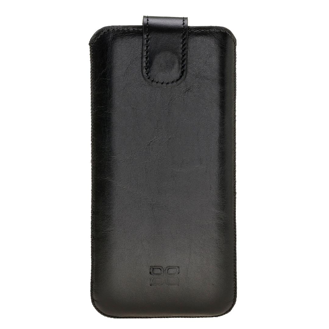 Husa tip saculet piele naturala, inchidere ferma, Samsung Galaxy S9 / S8 - Bouletta Multi Case, Rustic black