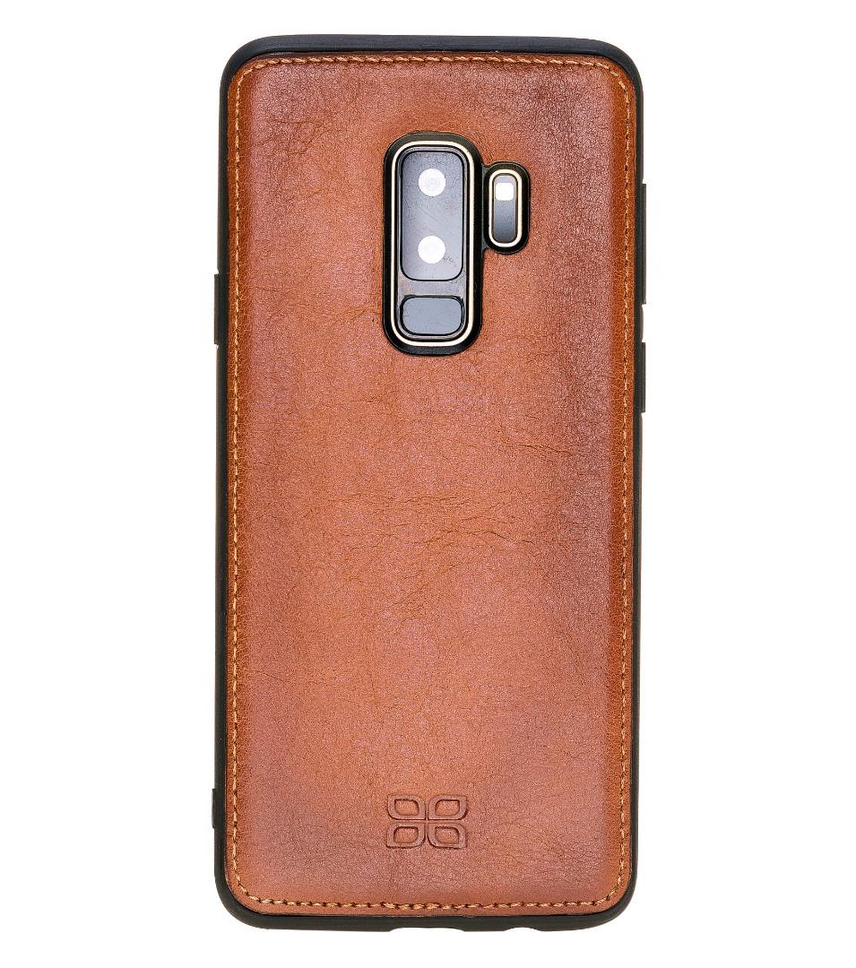 Husa slim piele naturala + rama TPU moale, back cover, Samsung Galaxy S9 Plus - Bouletta, Burnished tan