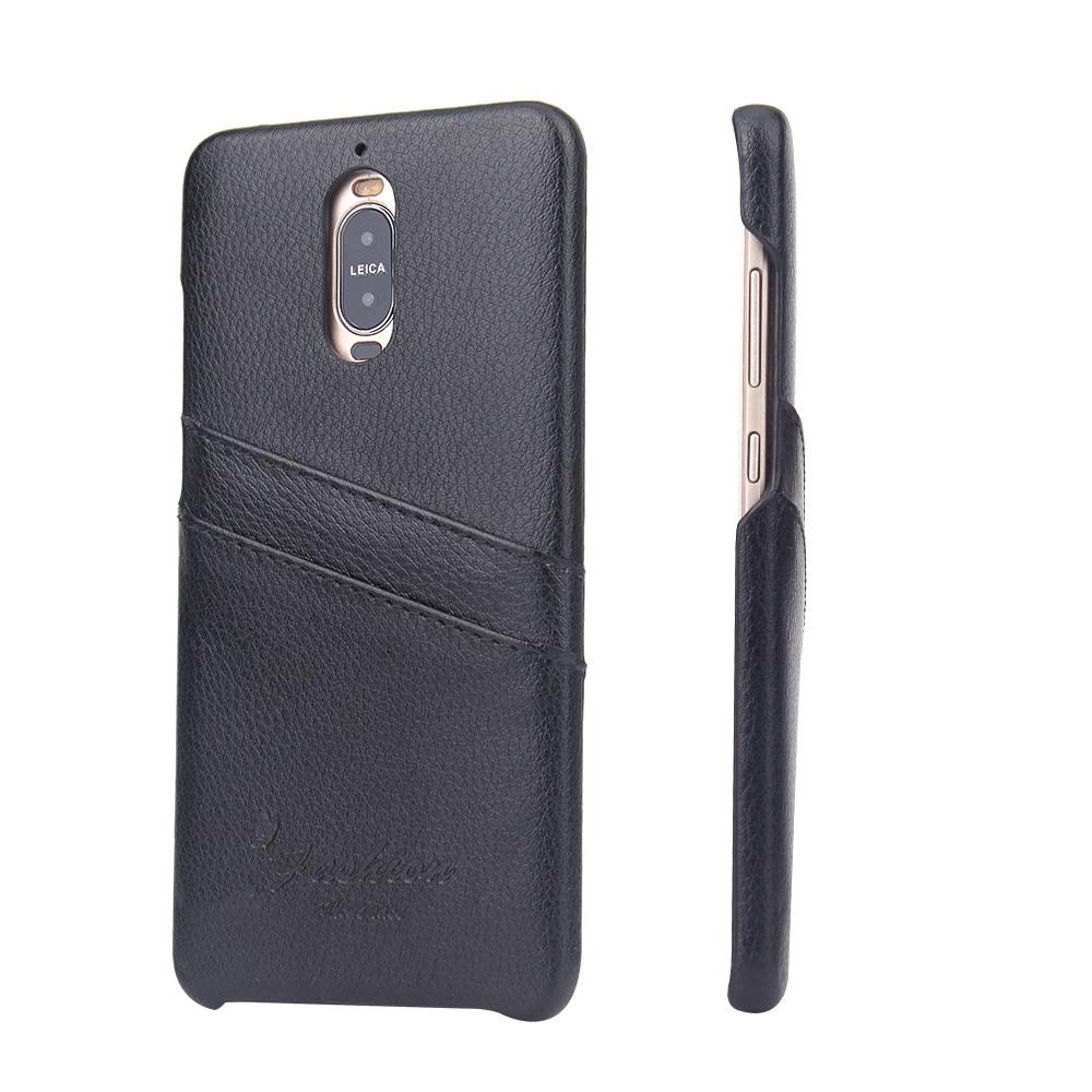 Husa slim din piele, tip back cover, cu buzunarase, Huawei Mate 9 Pro - CaseMe, Negru
