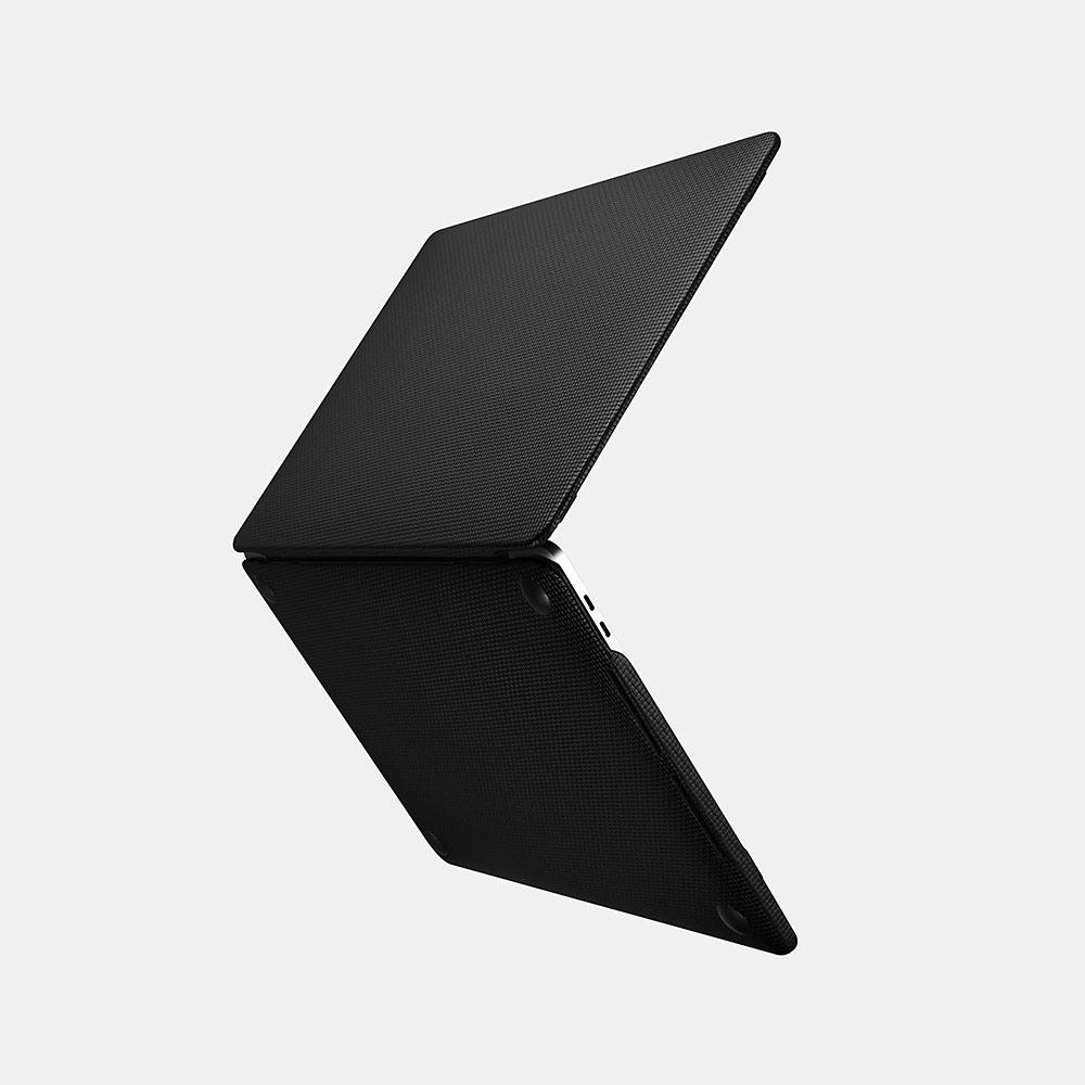 Husa din piele naturala tip carcasa, MacBook Pro 15 inch (2016 - 2019) - iCarer Woven, Negru