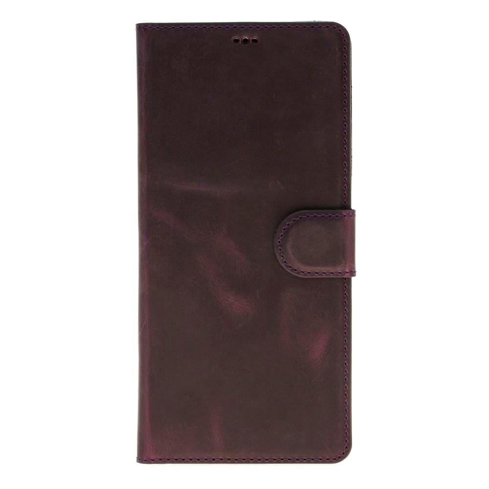 Husa piele naturala, tip portofel, stand, Samsung Galaxy Note 8 - Bouletta Wallet, Antique purple