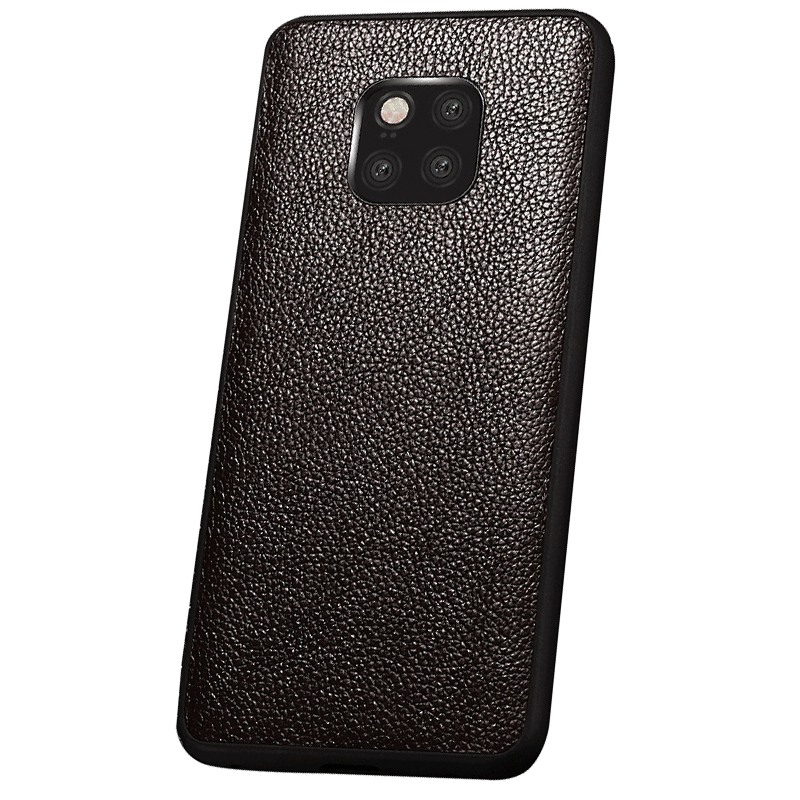 Husa slim piele naturala, tip back cover, Huawei Mate 20 Pro - Xoomz by iCarer Litchi, Maro coffee