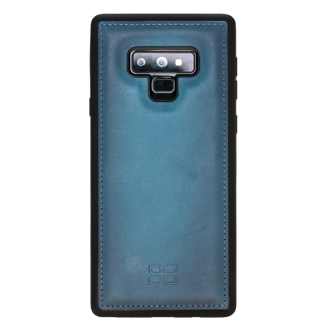Husa slim piele naturala + rama TPU moale, back cover, Samsung Galaxy Note 9 - Bouletta, Burnished blue