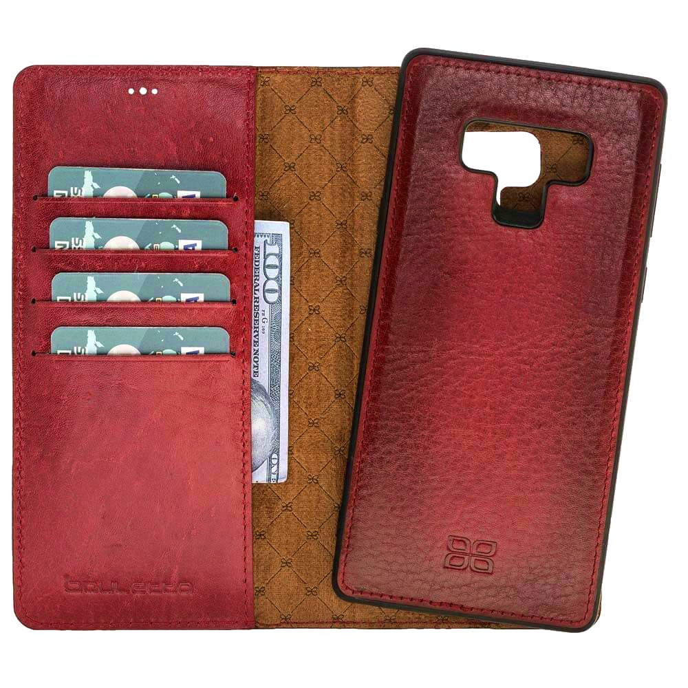 Husa piele naturala 2in1, portofel + back cover, Samsung Galaxy Note 9 - Bouletta Magic Wallet, Burnished red