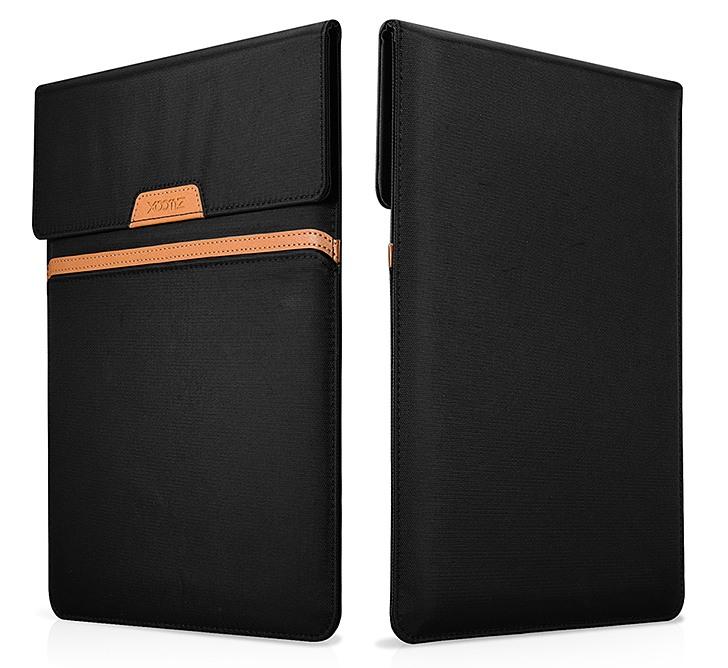 Husa slim tip plic din material textil, iPad - Xoomz by iCarer, Negru