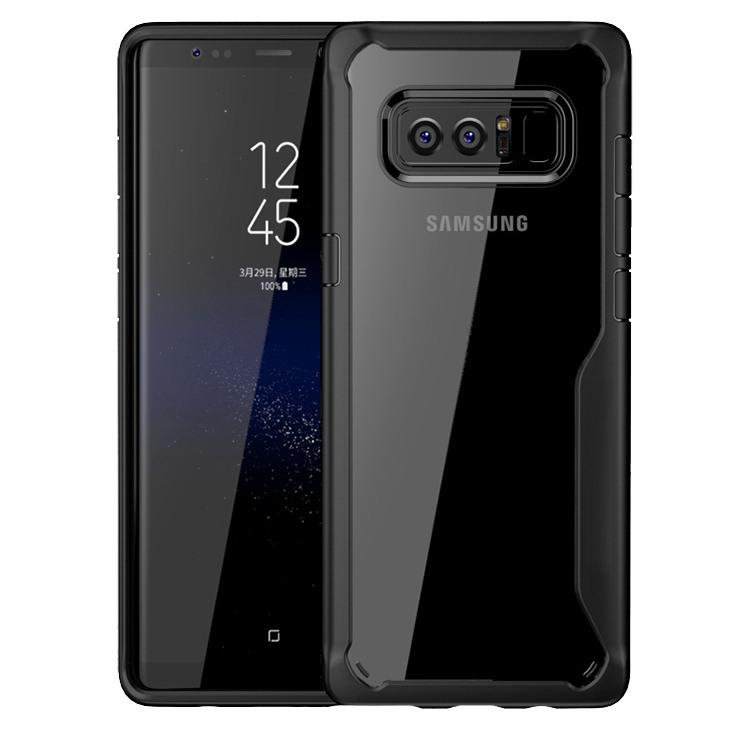 Husa din silicon + policarbonat transparent, protectie 360 grade, Samsung Galaxy Note 8 - CaseMe Army, Negru