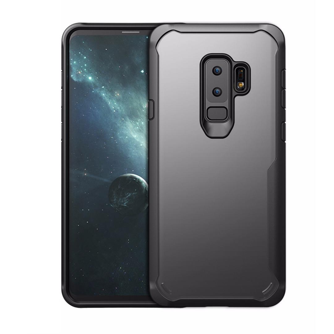 Husa din silicon + policarbonat transparent, protectie 360 grade, Samsung Galaxy S9 Plus - CaseMe Army, Negru