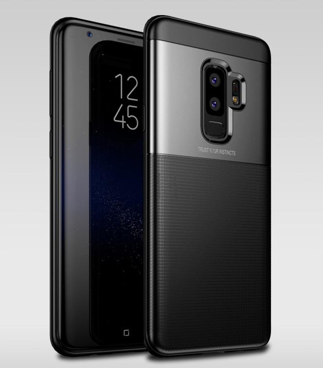 Husa protectie inalta 360 grade, TPU moale + PC, Samsung Galaxy S9 Plus - Jison Case, Negru