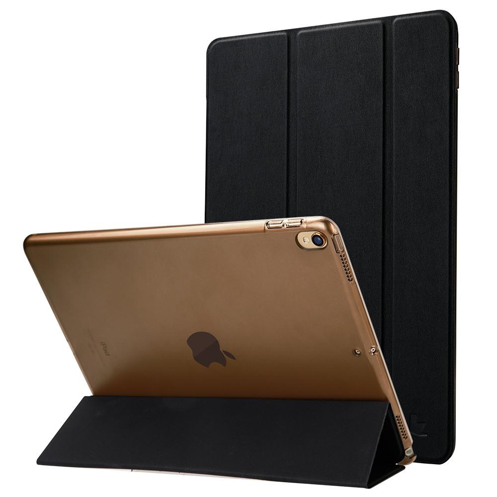 Husa slim cu spate transparent, smart cover, functie stand, iPad Pro 10.5 / iPad Air 3 10.5 - Jison Case, Negru
