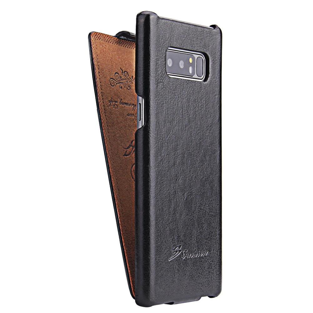 Husa piele fina, tip flip cover - Samsung Galaxy Note 8, Negru