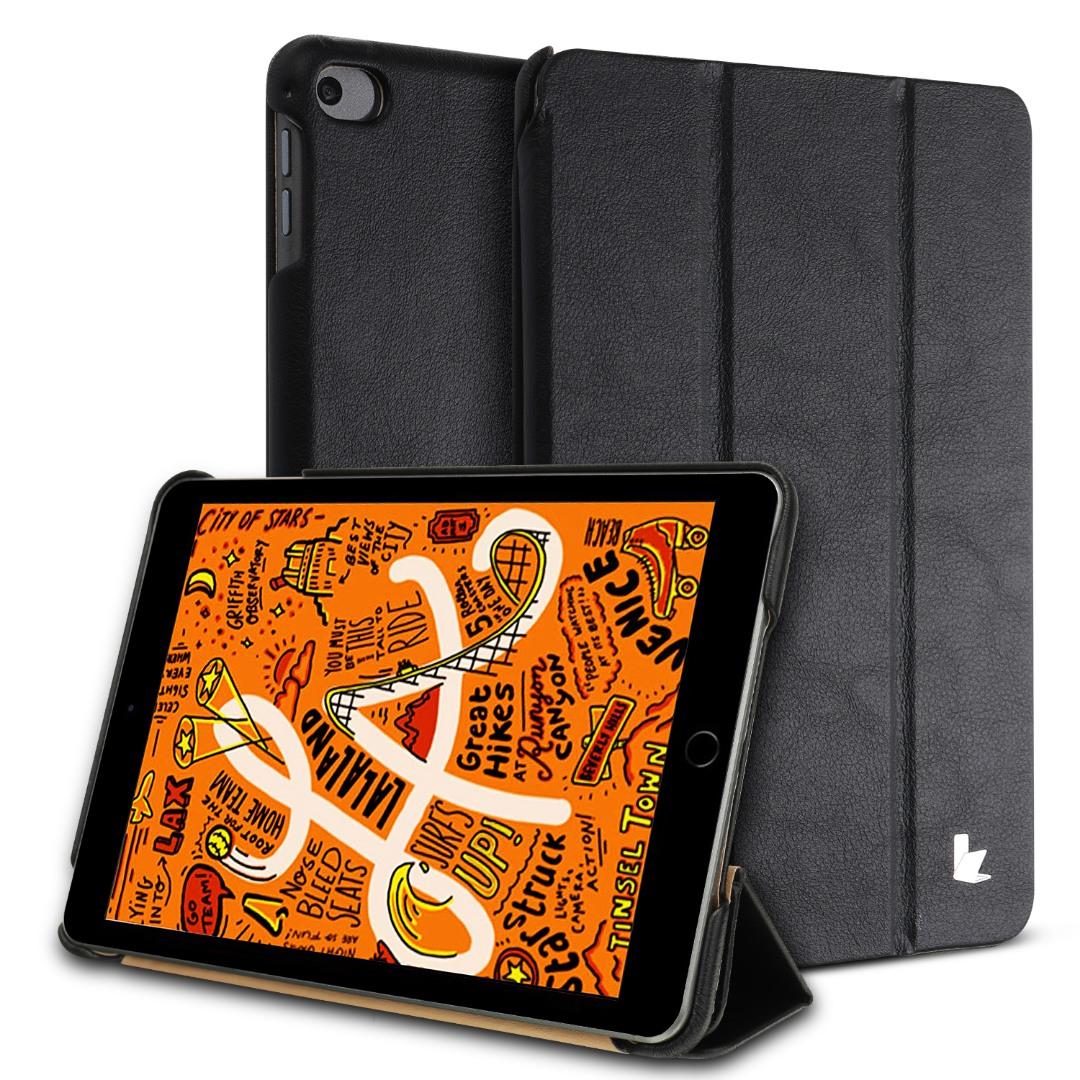 Husa piele fina microfibra, smart cover, stand, iPad Mini 5 (2019) / Mini 4 - Jison Case, Negru