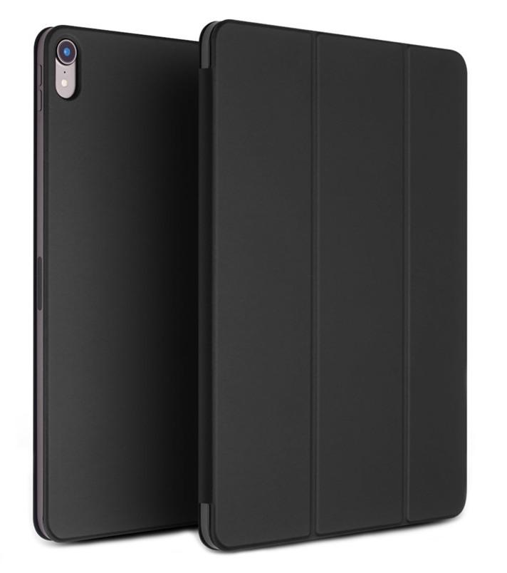 Husa ultra slim, magnetica, stand, smart cover, iPad Pro 12.9 (2018) - Qialino, Negru