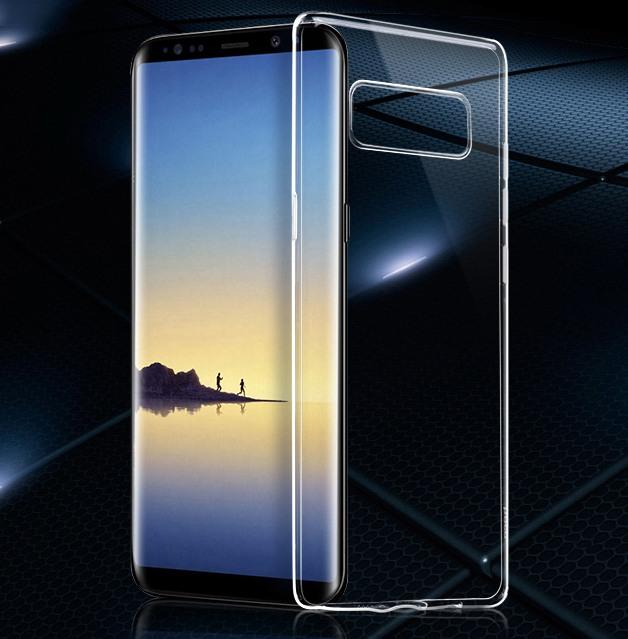 Husa ultra slim din silicon + TPU, tip back cover, Samsung Galaxy Note 8 - Hoco, Transparent