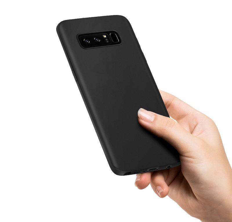 Husa slim mata, TPU moale si fin, tip back cover, Samsung Galaxy Note 8 - Hoco, Negru