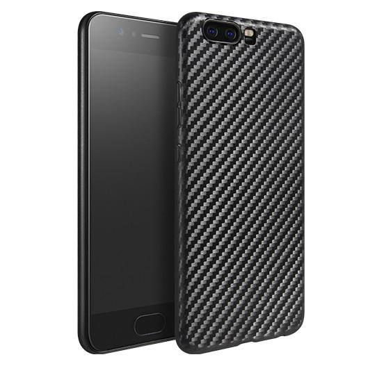 Husa slim din TPU, aspect fibra de carbon, back cover, Huawei P10 - Hoco, Negru