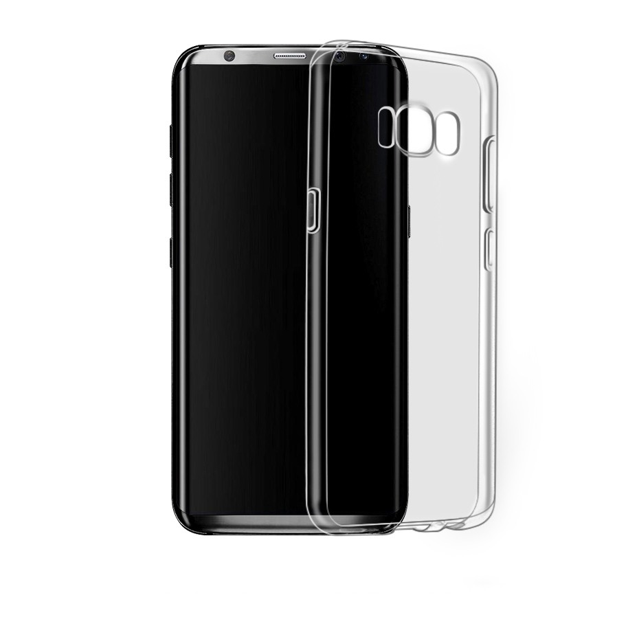 Husa ultra slim din silicon + TPU, tip back cover, Samsung Galaxy S8 Plus - HOCO Light, Negru transparent