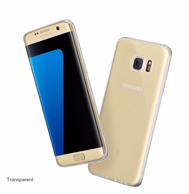 Husa ultra slim din silicon + TPU, tip back cover, Samsung Galaxy S7 Edge - HOCO, Transparent