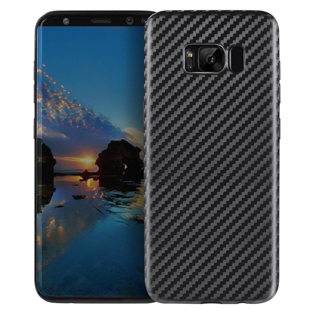 Husa slim din TPU, aspect fibra de carbon, back cover, Samsung Galaxy S8 Plus - Hoco, Negru