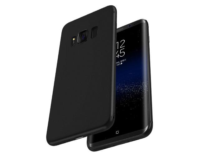 Husa slim mata, TPU moale si fin, tip back cover, Samsung Galaxy S8 Plus - Hoco, Negru