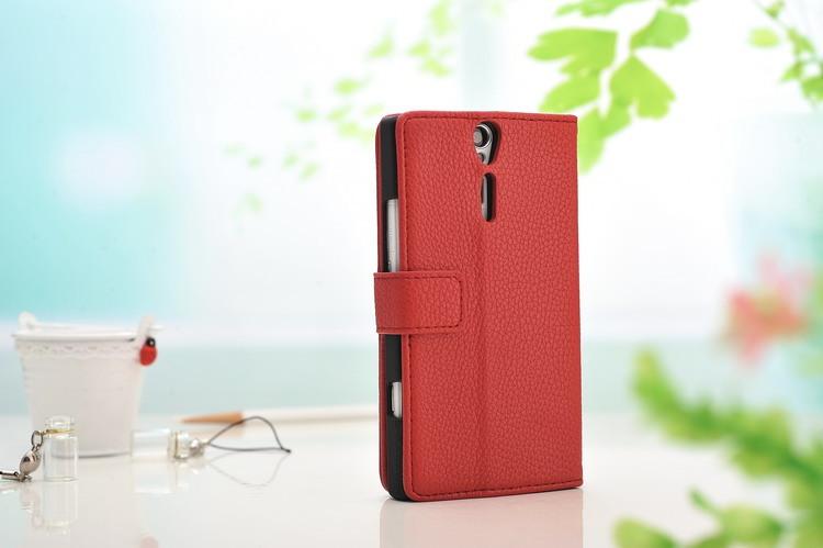 Husa piele texturata, tip carte, inchidere magnetica, Sony Xperia S (LT26i) - CaseMe, Rosu
