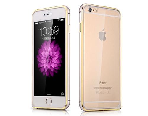Husa slim 2in1 back cover transparent TPU + bumper aluminiu, iPhone 6 - Xoomz by iCarer, Argintiu