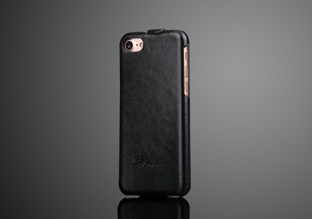 Husa piele fina, tip flip cover, iPhone SE 2 (2020), iPhone 8, iPhone 7 - CaseMe, Negru