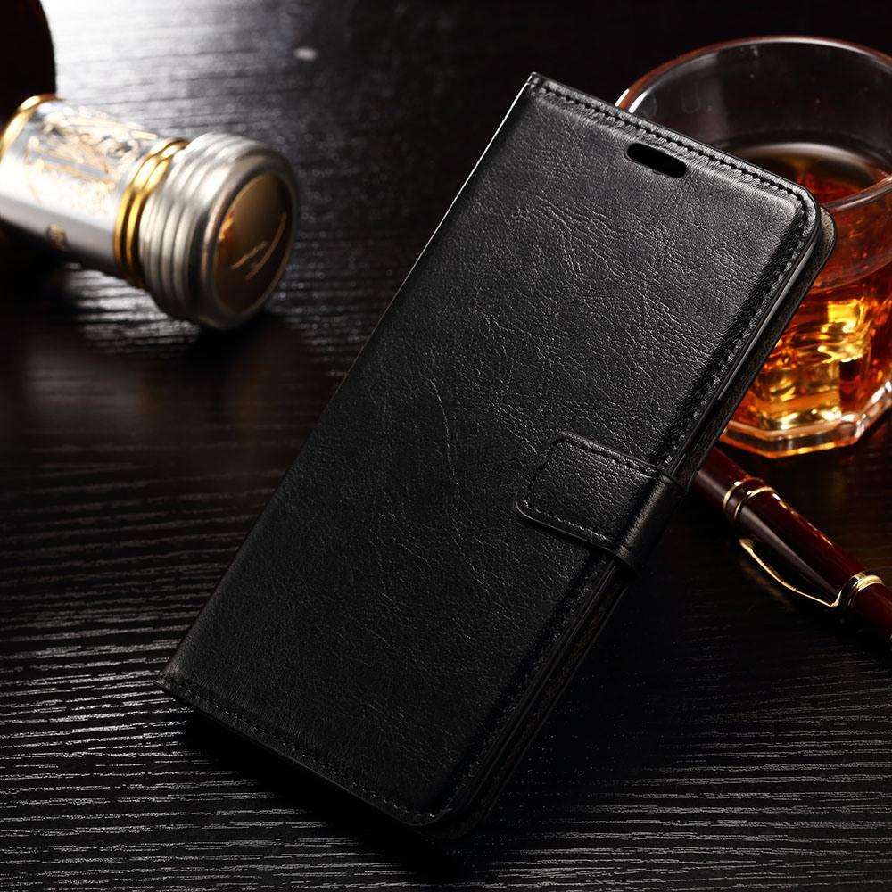 Husa piele fina, tip portofel, inchidere magnetica, stand, suport silicon, Samsung Galaxy S6 Edge - CaseMe, Negru