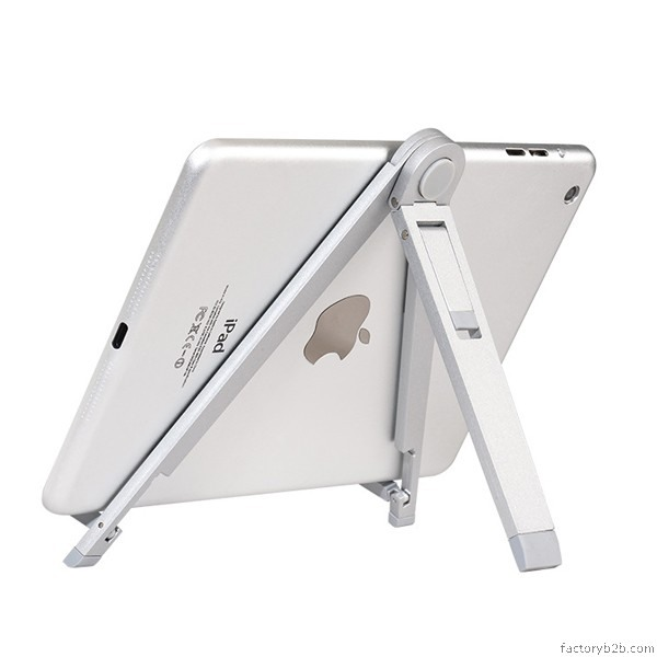 Suport / trepied / stand universal, pliabil, telefon, tableta, carte, aliaj de zinc - Hoco, Silver