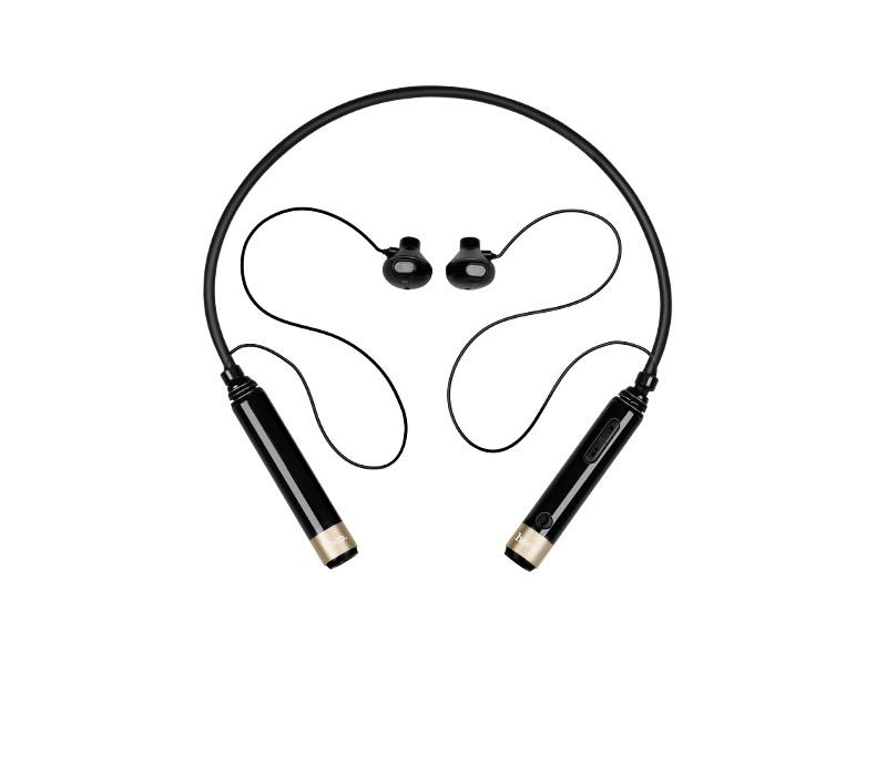 Casti cu bluetooth, wireless, fara fir, cu microfon, dedicate pentru sport, ergonomice, banda pentru gat - Hoco, Negru