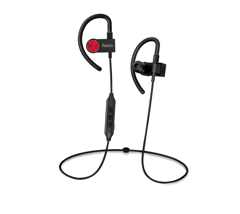 Casti cu bluetooth, wireless, fara fir, cu microfon, dedicate pentru sport, ergonomice, magnetice - Hoco, Negru
