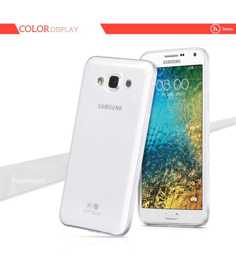 Husa ultra slim din silicon + TPU, tip back cover, Samsung Galaxy E5 - HOCO, Transparent