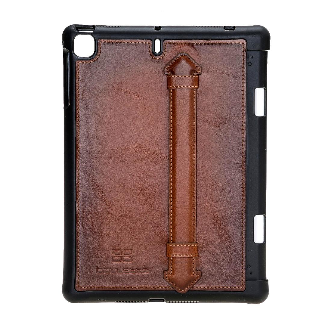 Husa piele naturala premium, protectie superioara, back cover, suport pencil integrat, iPad Mini 5 (2019) / Mini 4 - Bouletta Felix, Burnished tan