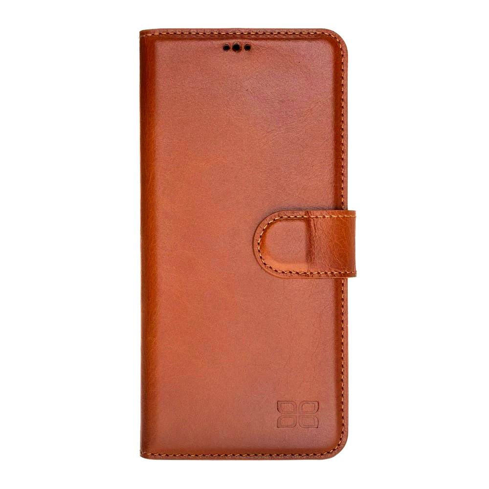 Husa piele naturala, tip portofel, stand, Huawei P30 Pro - Bouletta Wallet, Burnished tan