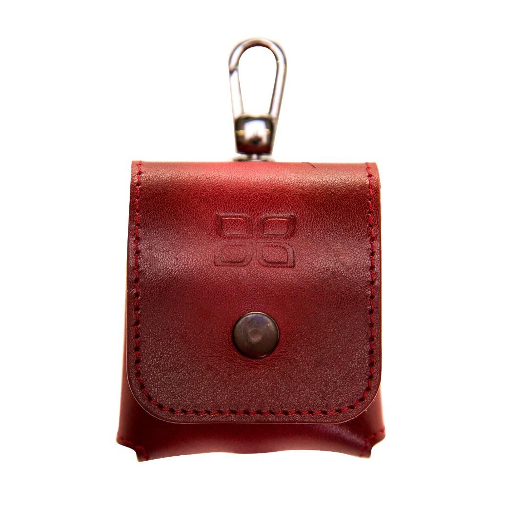 Husa / carcasa din piele naturala premium Bouletta, AirPods / AirPods 2, carabina metalica - Bouletta, Burnished red