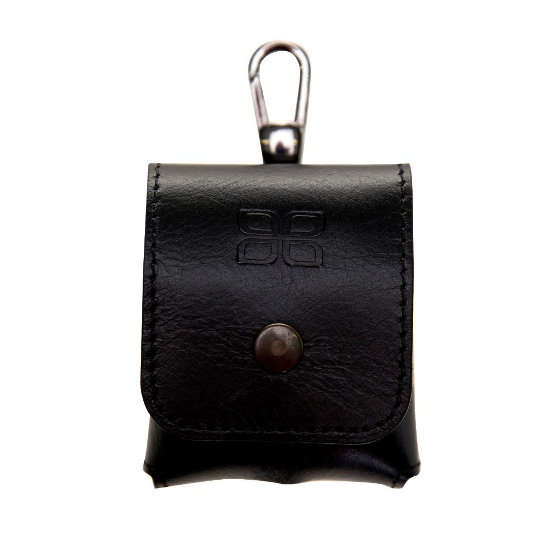 Husa / carcasa din piele naturala premium Bouletta, AirPods / AirPods 2, carabina metalica - Bouletta, Rustic black