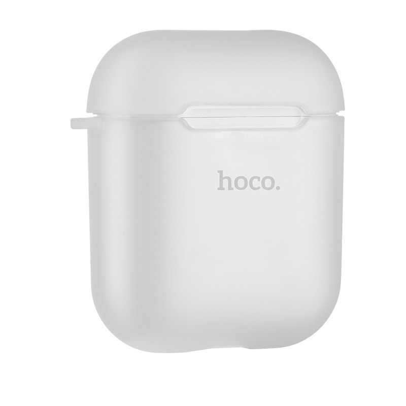 Husa protectoare slim din silicon fin si moale pentru AirPods 1 / AirPods 2 - Hoco, Transparent