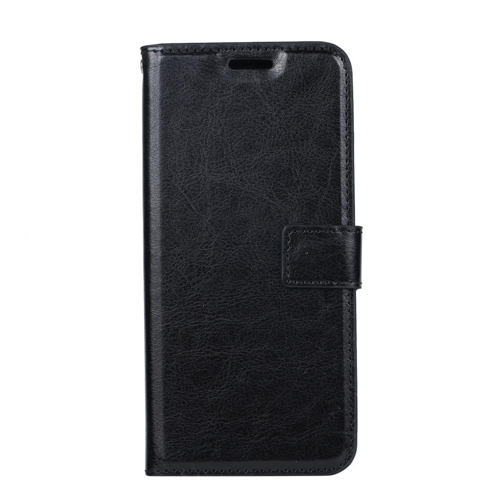 Husa piele fina, tip portofel, inchidere magnetica, stand, suport silicon, Huawei P30 Pro - CaseMe, Negru