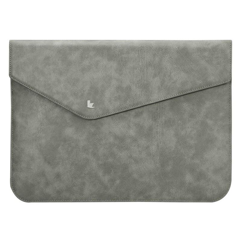 Husa piele microfibra tip plic, inchidere magnetica, MacBook Air / Pro 13 inch - Jison Case, Gri