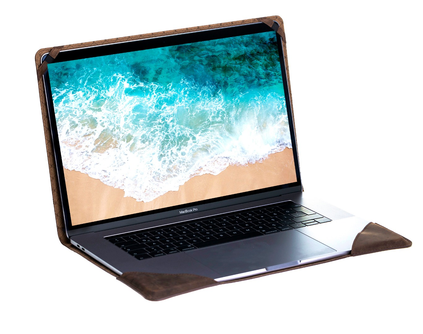 Husa slim soft cover piele naturala premium, MacBook Pro 13 inch (2016 - 2020) Bouletta, Antique coffee