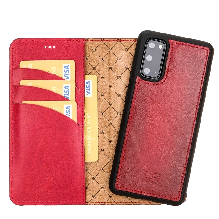 Husa piele naturala 2in1, portofel + back cover, Samsung Galaxy S20 - Bouletta Magic Wallet, Burnished red