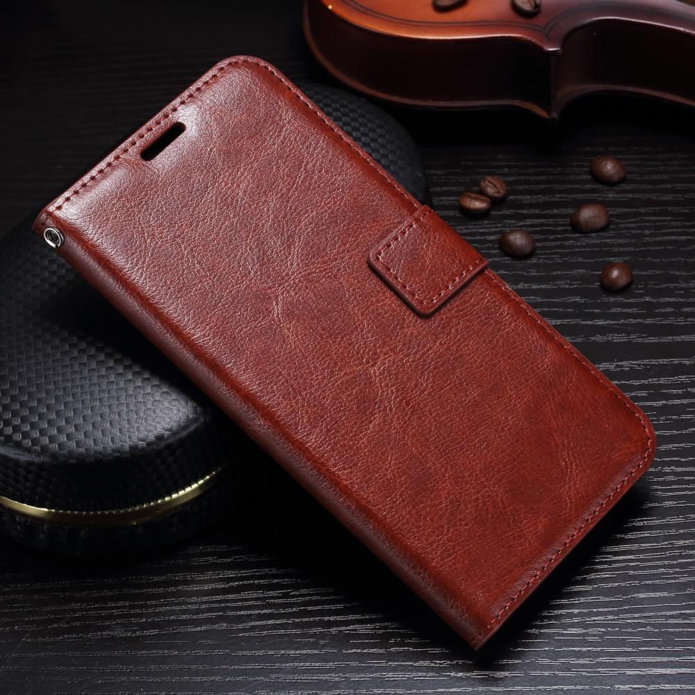 Husa piele fina, tip carte, functie stand, Huawei Mate 10 Lite - CaseMe, Maro coniac