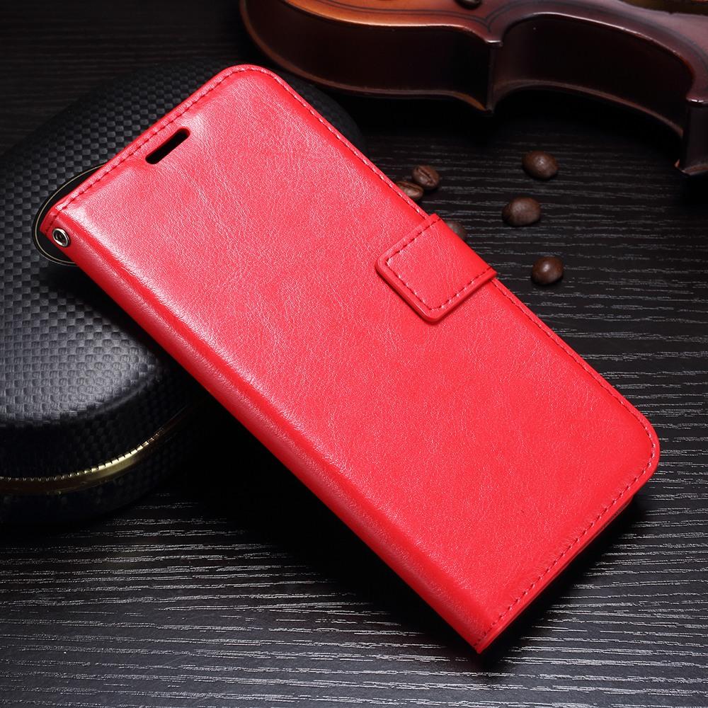 Husa piele fina, tip carte, functie stand, Huawei Mate 10 Lite - CaseMe, Rosu