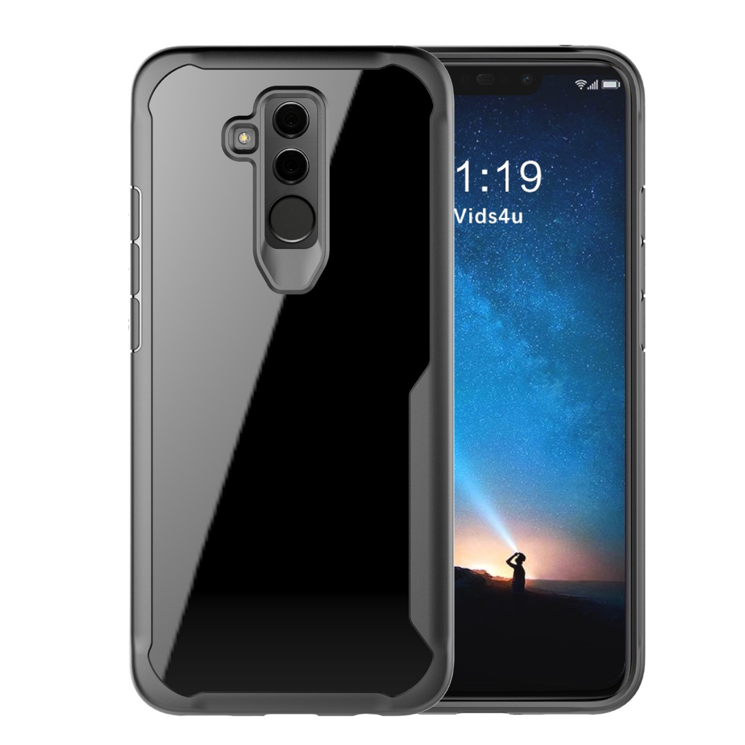 Husa din silicon + policarbonat transparent, protectie 360 grade, Huawei Mate 20 Lite - CaseMe Army, Negru