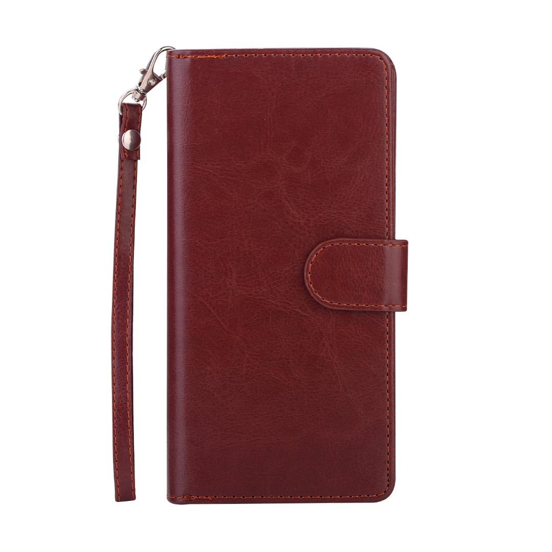 Husa 2in1 piele fina multifunctionala, portofel, back cover, Samsung Galaxy Note 8 - CaseMe, Maro coniac